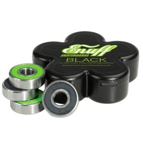 Enuff Blacks ultra precision longboard bearings 8-pack