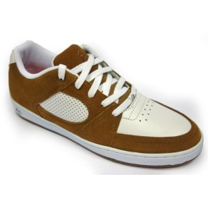És Accel slim shoes brown white