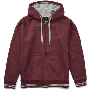 Etnies Johnson Zip hooded burgundy