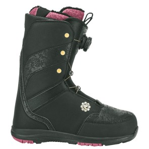 Flow Onyx BOA coiler womens snowboard boots black 2018