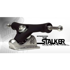"Gullwing Stalker 9.5"" 50 degrees trucks black rubber"