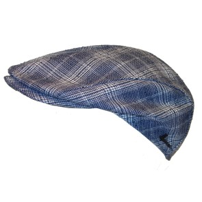 Herman Range 030 shaped flat cap blue