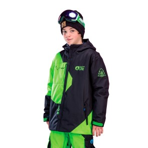 Picture Organic Fink black-green snowboard jacket youth 10K