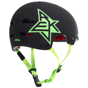 Rekd Elite icon skate helmet matte black-green