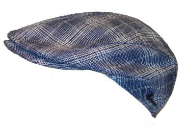 Herman Range 030 shaped flat cap blue
