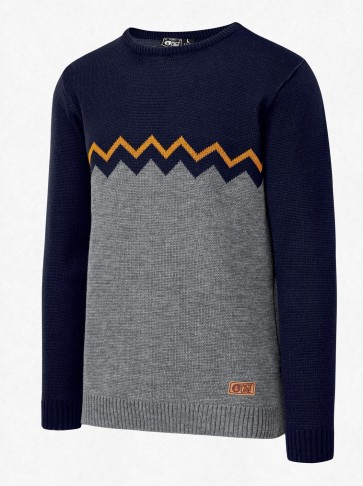 Picture Knitter knitted pullover grey melange