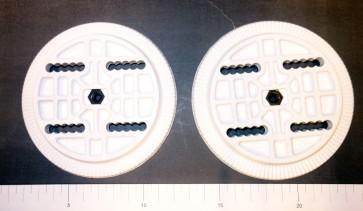 Rome 4 hole binding discs white