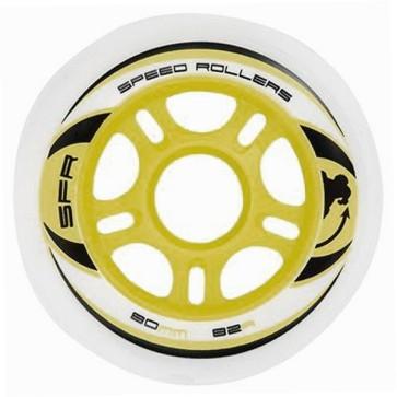 SFR inline wheels 84 mm white 82a (set of 4)