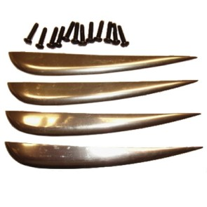 Gator aluminium fin set gold (set of 4)