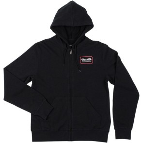 Brixton Grade Zip Hooded Fleece noir