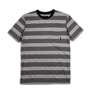 Brixton Hilt Pocket Knit T-shirt heather grey