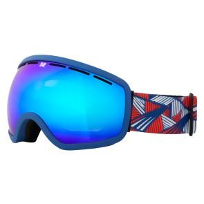 Aphex Baxter masque de ski blue avec écran revo bleu
