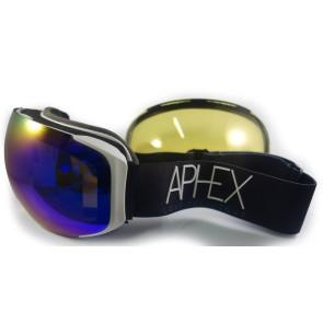 Aphex Kepler goggle white - revo blue lens (with bonus lens)