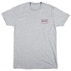Brixton Grade t-shirt heather grey