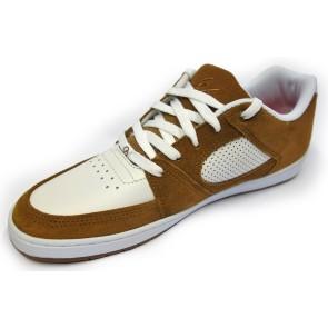 És Accel slim shoes brown white