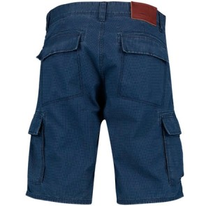 O'Neill Complex Check Cargo pantalon court bleu