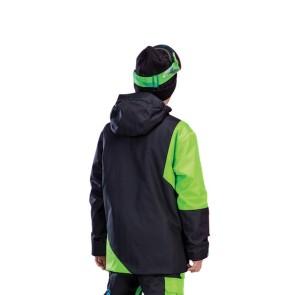 Picture Organic Fink veste de snowboard enfants 10K noir-vert (14 ans)