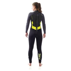 Pro Limit Pure Girl Fire DL Combinaison de plongée femmes 5/3 mm noir joune
