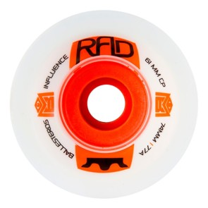 RAD Influence roues 74 mm 77a blanc Max Ballesteros