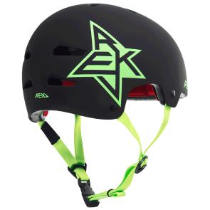 Rekd Elite icon casque de skate noir matte-vert