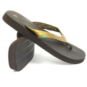 Sanuk Yoga Glam female slippers brown