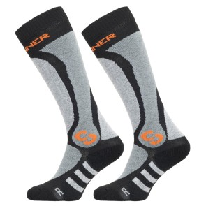 Sinner Pro socks black-grey-orange - 2 pair
