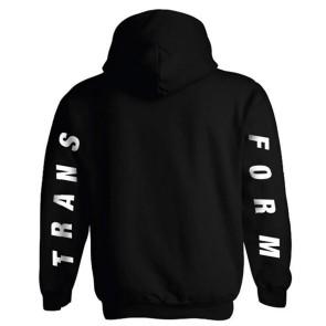 Transform Fast text hoodie noir